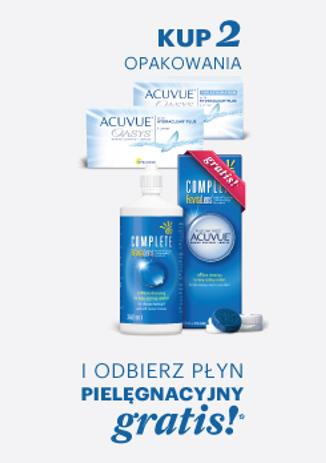 Kup 2 opakowania soczewek Acuvue Oasys i odbierz płyn Complete 360 ml GRATIS !